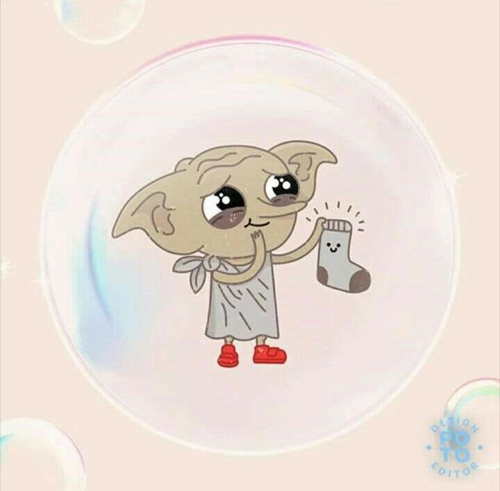 no one could ever be this happy about a sock like dobby - love this drawing! thx to the artist