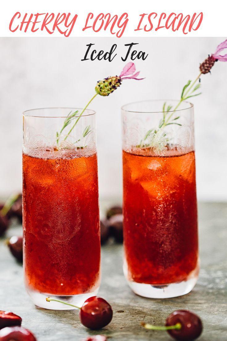 Cherry Long Island Iced Tea Long Island Iced Tea Iced Tea Recipes Long Island Iced Tea Recipe