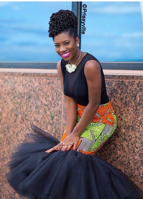 Nice Dress with Ankara~African fashion, Ankara, kitenge, African women dresses, African prints, African men's fashion, Nigerian style, Ghanaian fashion ~DKK