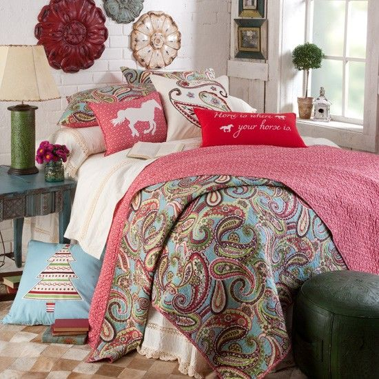 Home Is Where Your Horse Is Paisley Bedding Collection