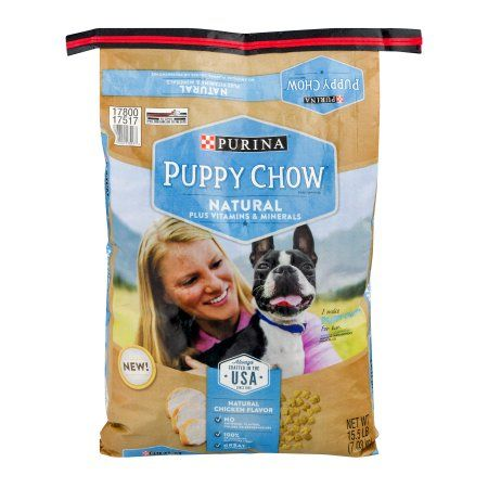 Purina Puppy Chow Natural Plus Vitamins & Minerals Dog Food 15.5 lb. Bag