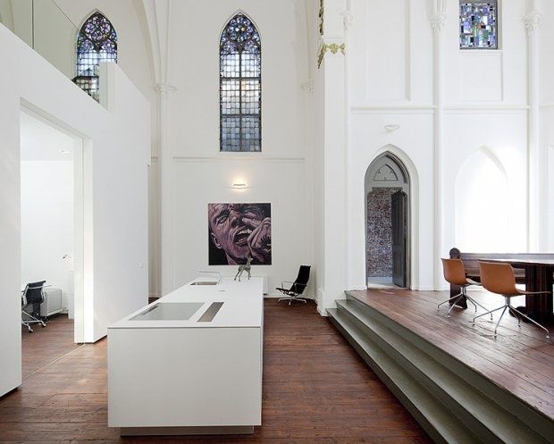 Jakobus Church In The Netherlands, Revamped Into A Modern House.
