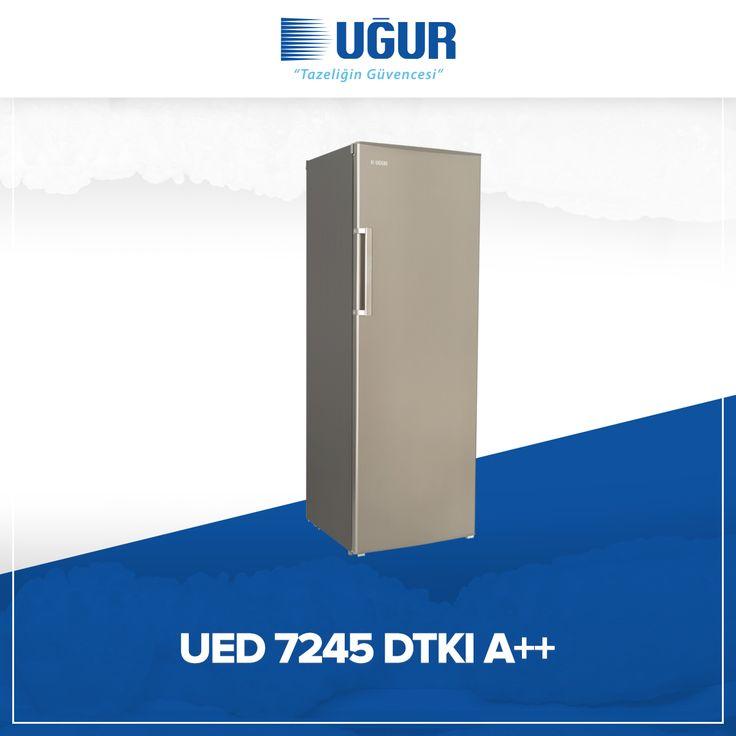 UED 7245 DTKI A++ birçok özelliğe sahip. Bunlar; ayarlanabilir ayak, şeffaf çekmece, dijital termometre, pratik açılan kapı kolu ve elektronik ısı kontrol. #uğur #uğursoğutma