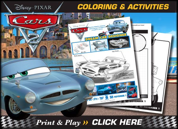 free disney cars printable coloring pages activity sheets - Disney Cars Activities