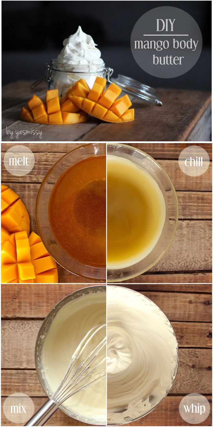 DIY mango body butter recipe - with step by step tutorial DIY Beauty Tips, DIY Beauty Products #DIY