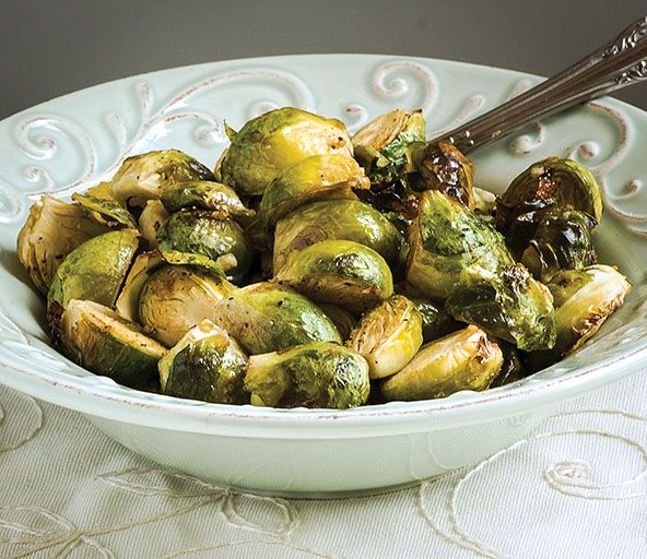 Mustard-Garlic Brussels Sprouts Recipe Side Dishes with fresh brussels sprouts, garlic, ghee, garlic, coconut aminos, dijon mustard, ground black pepper