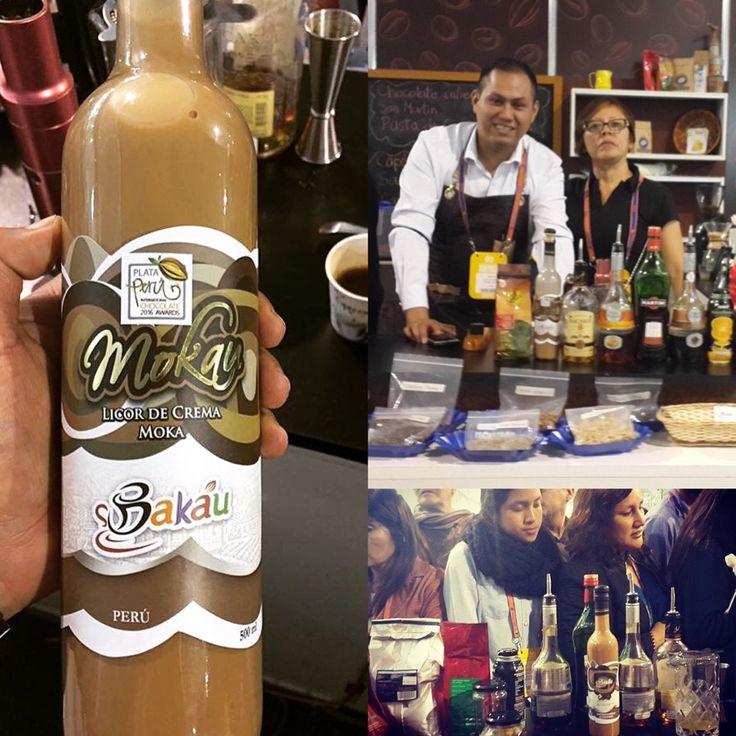 Our awarded moka (coffee & cacao) cocktail with Pisco was a succes in ExpoAlimentaria #moca #moka #mocaccino #pisco #jerez #cocktail #cocktails #cocktailbar #baileys #drink #drinking #drinks #coffee #cacao #expoalimentaria2016 #barman #barista #chocolatier