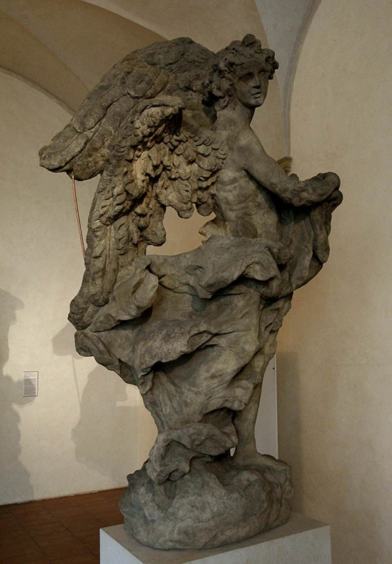 Mathias Bernard Braun - Angel1,1717-1718,sandstone,245cm,Prague-National gallery