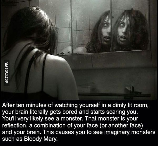 Did this also happened to you once, guys? || Staring in a mirror makes you see scary images...