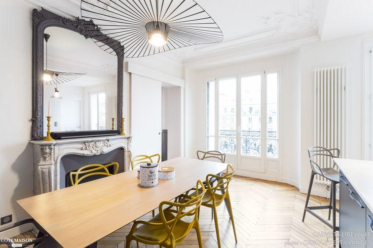 Cuisine moderne dans un appartement Haussmannien, Coralie Vasseur - Côté Maison