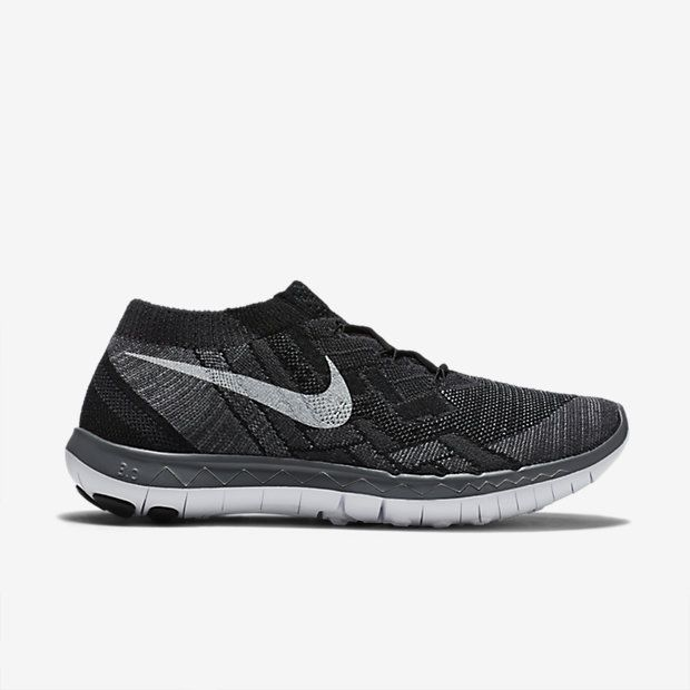 Nike Free 3.0 Flyknit Negro / Antracita / Gris Oscuro / Blanco Dormitorios