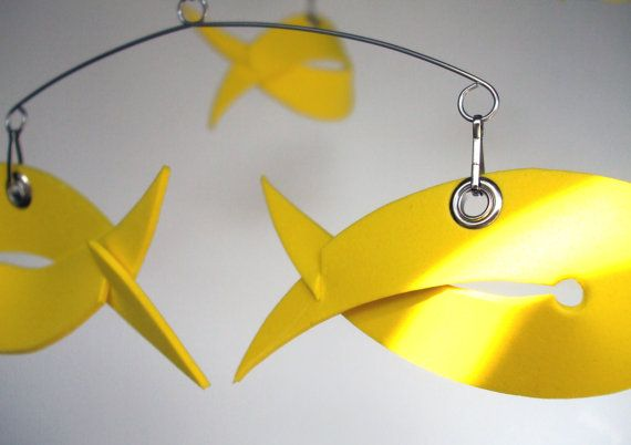 SELLOUT 40% discount Lemon Fish Mobile sculpture by MultiColori