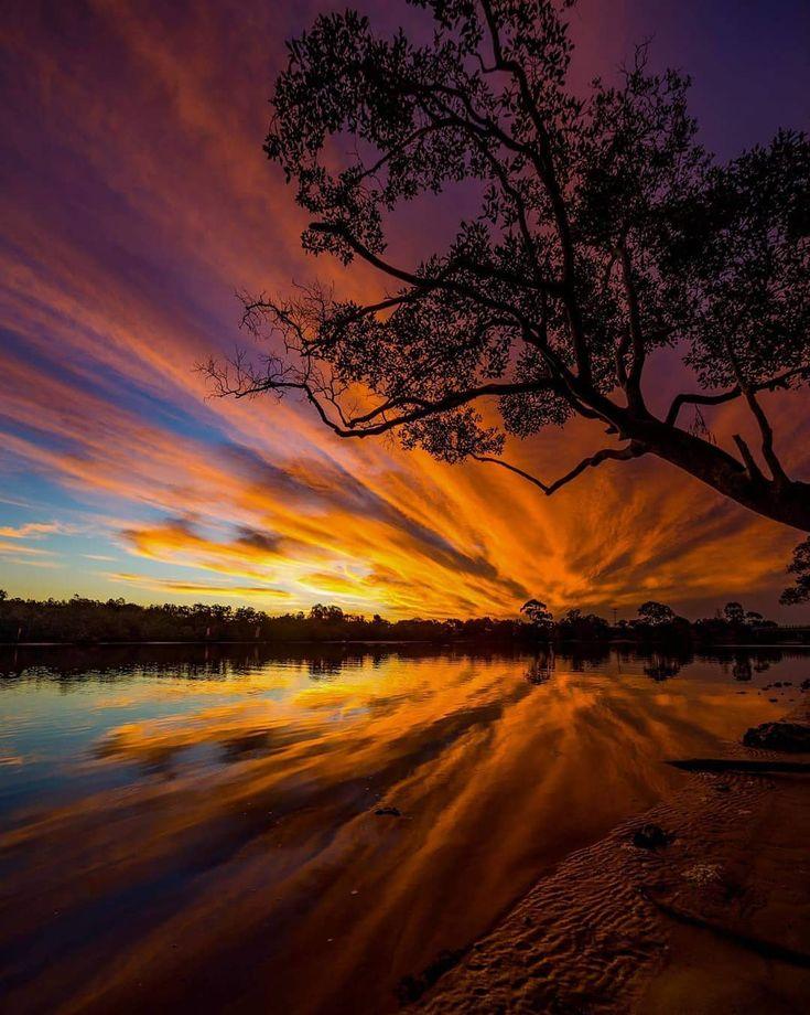 красивые картинки пейзаж закат него временем