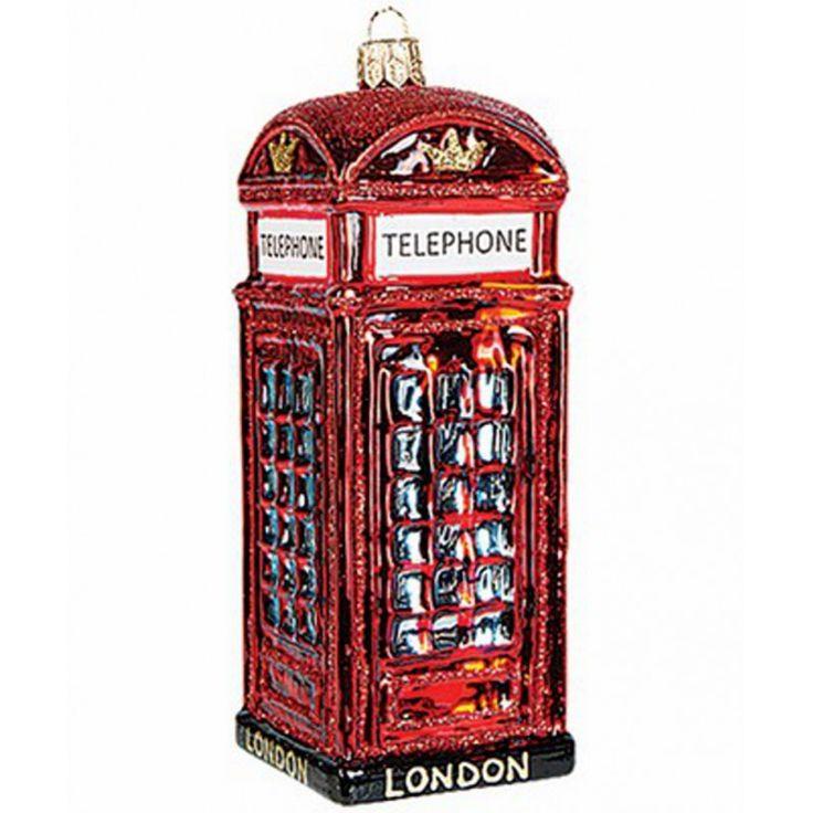 Christbaumschmuck Englische Telefonzelle