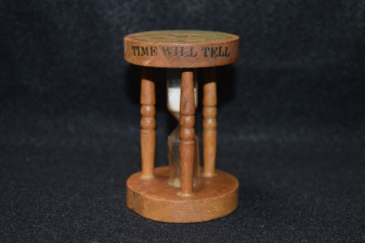 "Vintage Mt. Rushmore Souvenir Wooden Hourglass,  ""Time Will Tell"" Wooden Hourglass, Vintage Kitchen Hourglass Timer, Wood Egg Timer by FabulousVintageStore on Etsy"