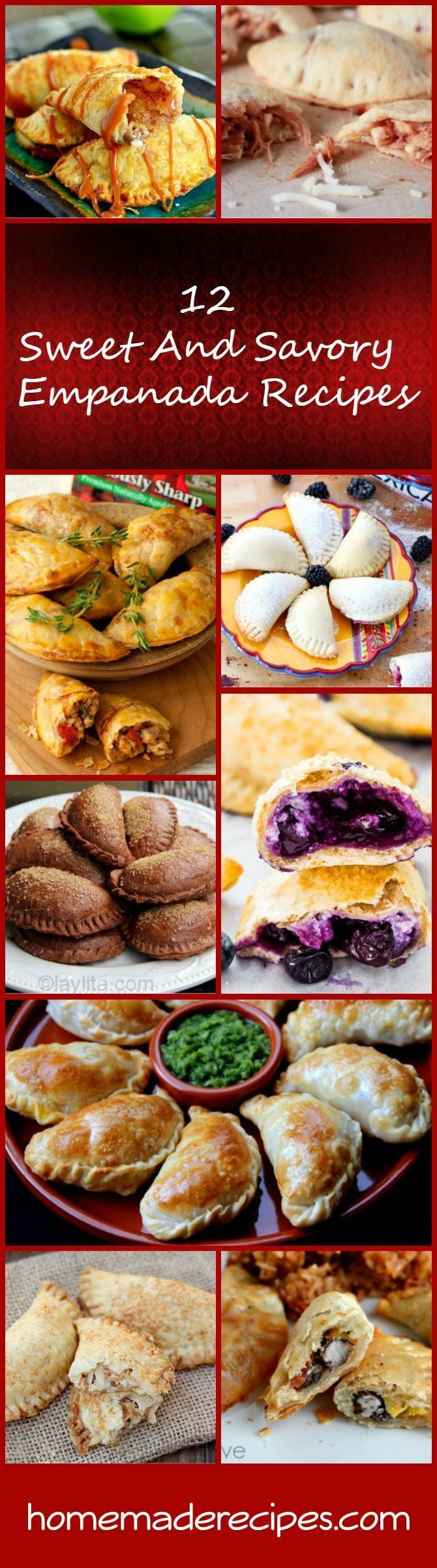 12 Sweet And Savory Empanada Recipes | How To Make Delicious And Savory Empanada From Scratch by Homemade Recipes at http://homemaderecipes.com