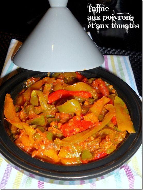 Tajine aux poivrons et aux tomates Tajine met paprika/pepers en tomaten
