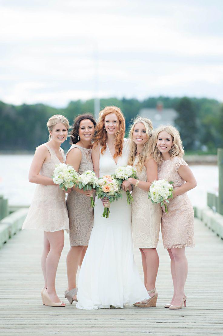 317 best rustic wedding bridesmaids dresses images on pinterest elegant seaside wedding in nova scotia cream bridesmaidsneutral bridesmaid dresseswedding ombrellifo Gallery