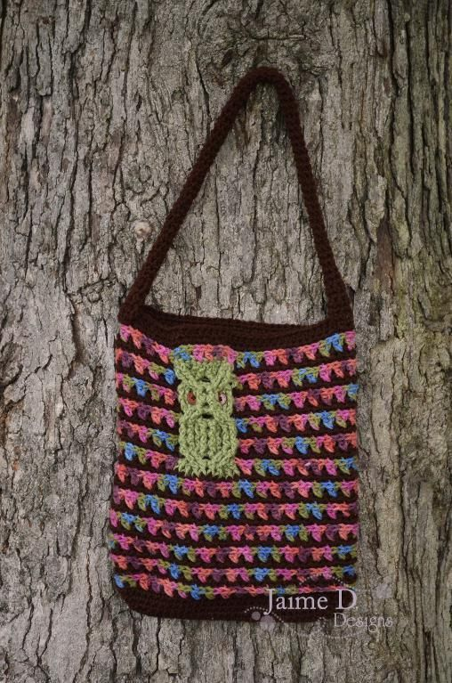 Owl Crossed Bag crochet