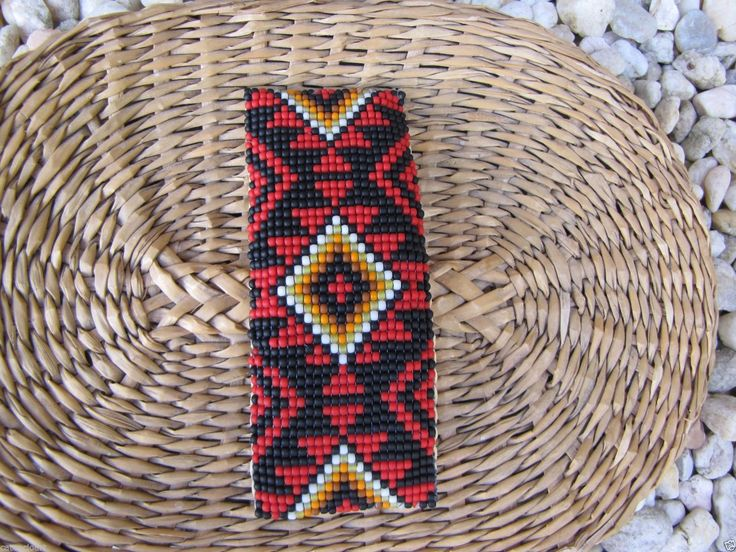 Only Native american beaded rosettes strips headbands