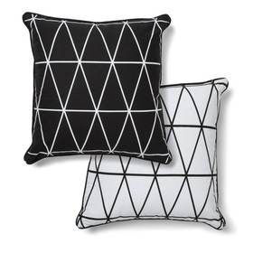 Reversible Monochrome Cushion - Geo Print