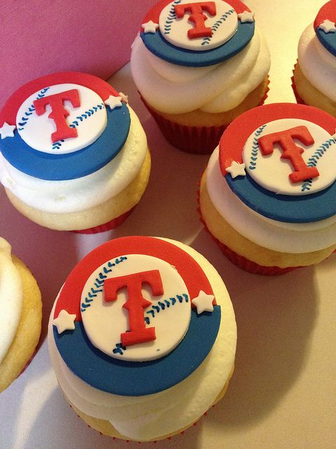 Texas Rangers Cupcakes by SweetNothingsPhotos, via Flickr