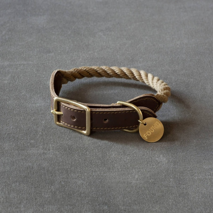 Tiny dog collar, with a tag that says 'found' - I want this as a bracelet!