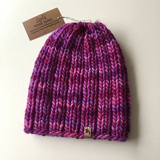 Mega Rib is a basic ribbed beanie knit in the round with Super Bulky weight yarn and can be completed in one day. The perfect pattern when you need some instant gratification! This would be the perfect Hat for gift/holiday knitting.