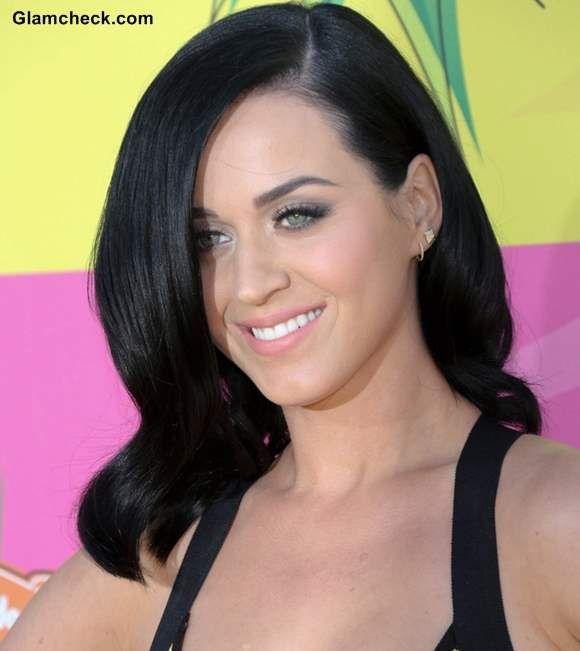 Katy Perry sports Black hair at Nick Kids' Choice Awards 2013