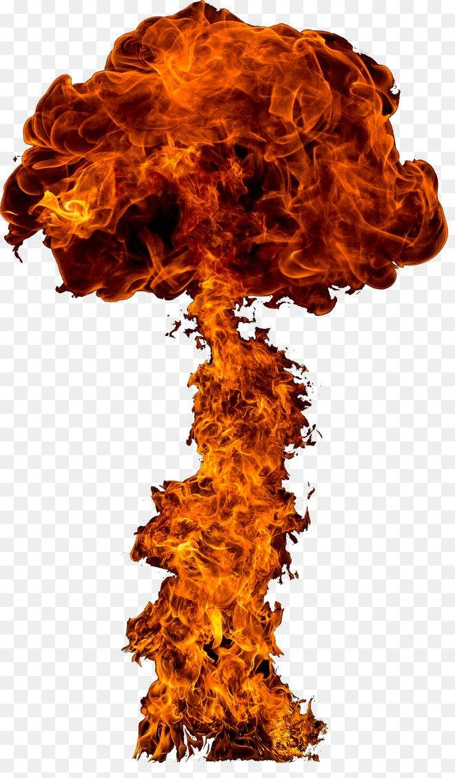 Free Download Mushroom Cloud Explosion Flame Png Image Iccpic Iccpic Com