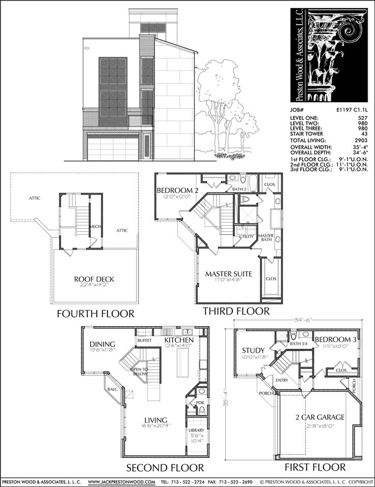 68 best townhouse duplex plans images on pinterest for Townhouse floor plans