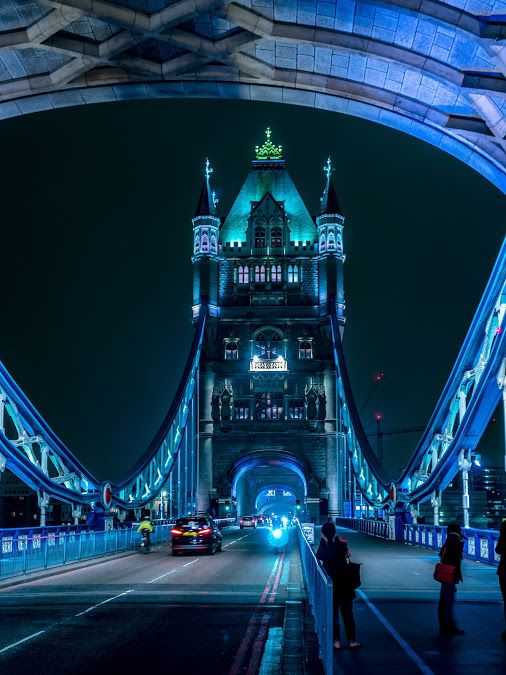 Tower Bridge at Night London, England, United Kingdom by Oliver Stör on flickr