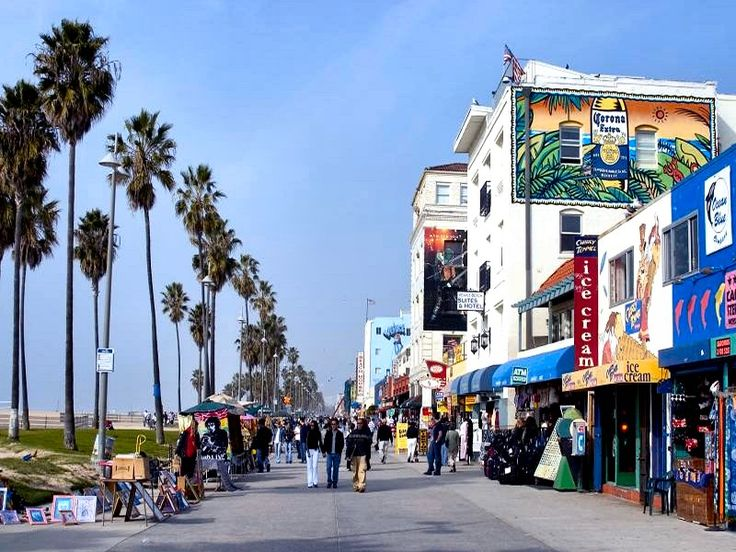 Venice Beach, CA. K worked at a Real Estate office around the corner from this. Many walks on the boardwalk. (Summer '01)