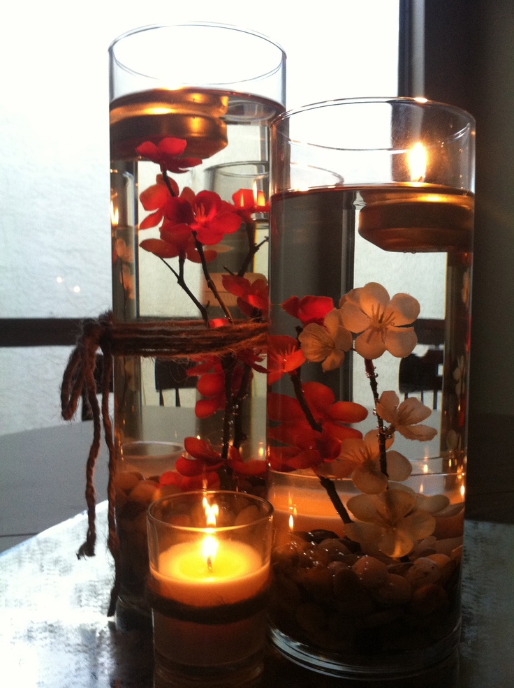 Diy floating tea light centerpieces wedding ideas