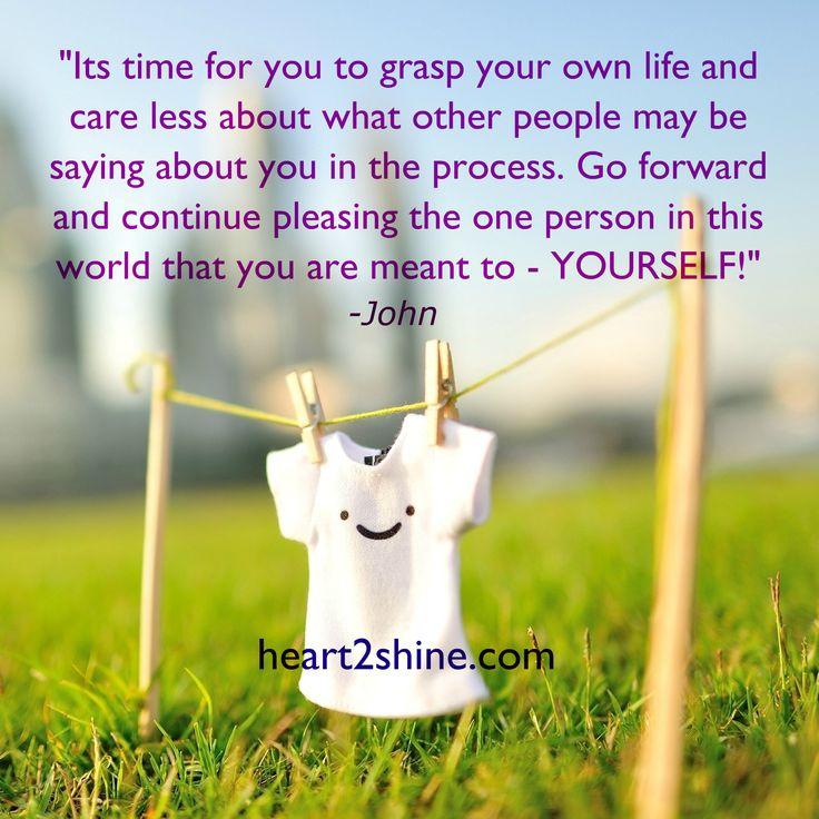 Grasp Your Own Life! Spiritual Guidance from John. heart2shine.com