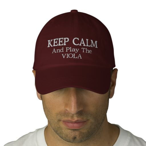 Keep Calm Viola Music Embroidered Hat