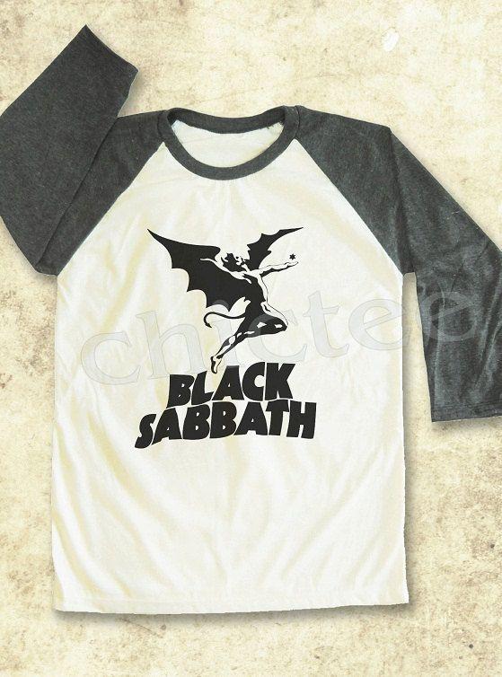 Black Sabbath shirt rock shirt women t shirt unisex t shirt raglan tee baseball shirt 3/4 long sleeve t shirt size S M L on Etsy, $18.00 @Lianna Mowrer