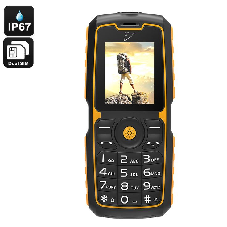Rugged Cell Phone - IP67 Waterproof, Bluetooth, Dual-IMEI, Flashlight, Power Bank Feature, 13000mAh Battery - This rugged cell phone comes with a durable IP67 waterproof body. With its 13000mAh battery, it brings forth a stunning 48 hours of continuous usage time.