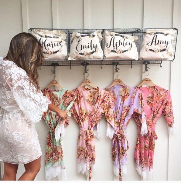 Robe personalizado para madrinhas e noivas