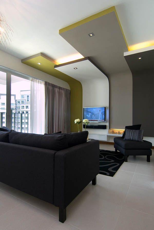 Salon avec lumi re au plafond living room pinterest plafond salon et lumi res - Lumiere au plafond ...