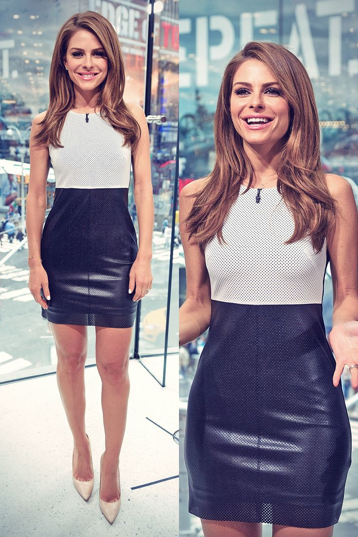 Maria Menounos on Set of Extra from H&M