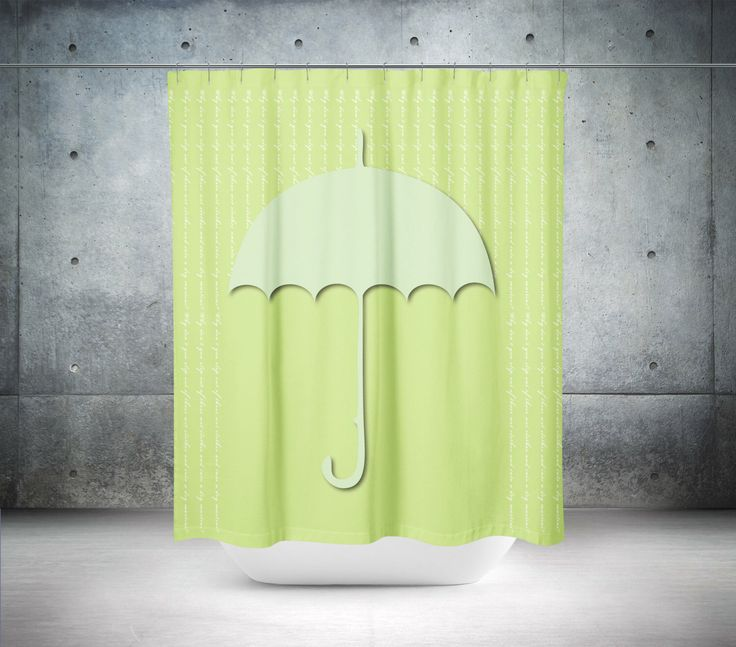 Bright and modern. Our Umbrella series features quippy quotes. Choose from the ones that make us smile or personalize it with your own! https://www.etsy.com/listing/487548179/green-shower-curtain-umbrella-shower