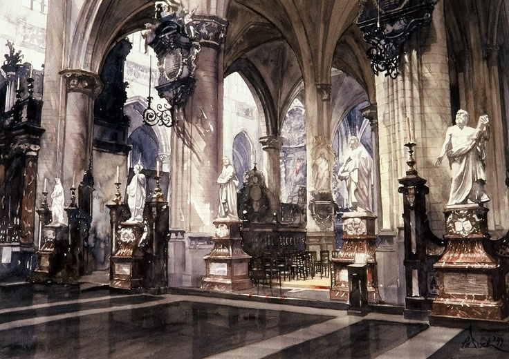 Paul Dmoch. Watercolour