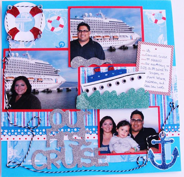 Cruise layout using Life Is A Beach Cricut by 365 Days Of Cricut
