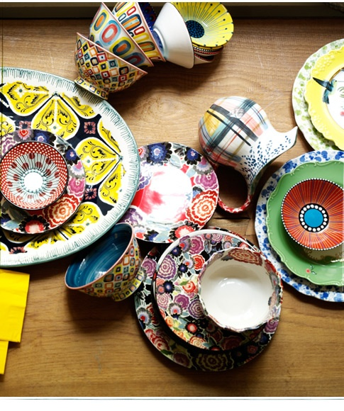 plates and cups - anthropologie (where else?)