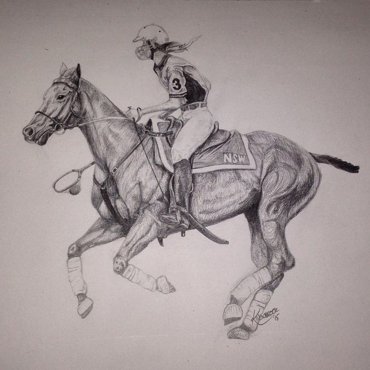 A4 Pencil #love #pony #polocrosse #horse #commission #drawing #pencil #art #artist