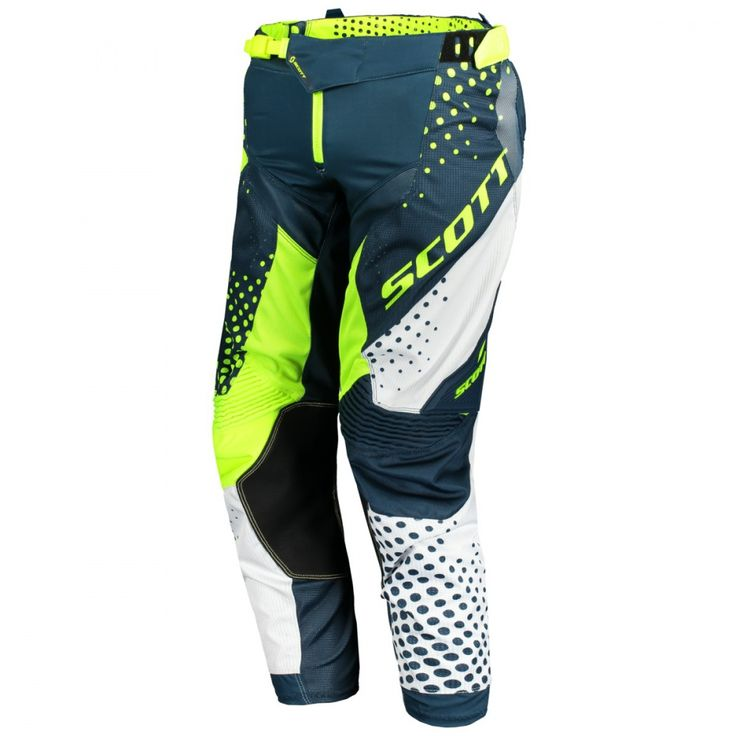 Scott 450 ANGLED / VENTILATED Pants (BLU/YEL).