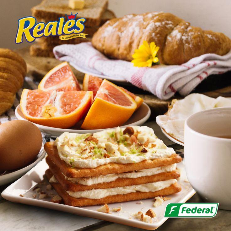 ¡Mañanas frías!  Para estas mañanas frías, que rico comenzar con un delicioso desayuno que contenga la dulzura y la versatilidad de Reales.  #GalletasFederal