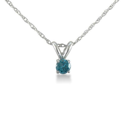 1/10ct Blue Diamond Solitaire Pendant in Sterling Silver SuperJeweler. $39.99. 1/10 Carat Total Diamond Weight. SuperJeweler offers free shipping in the United States, Canada, the United Kingdom, Australia and almost every country.. All purchases from SuperJeweler come with The SuperJeweler Lifetime Guarantee. Your SuperJeweler jewelry purchase includes a lifetime guarantee against the loss of side stones or damage to the jewelry's setting or center stone. It also in...