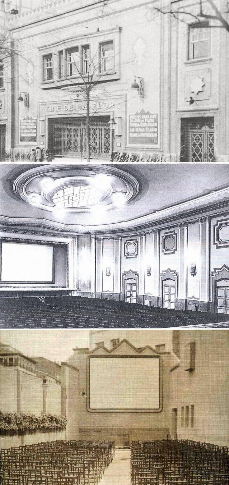 Cine La Flor. c/ de Alberto Aguilera, 4, abrió sus puertas en 1912. En 1928 fue totalmente reformado por Luis Gutiérrez Soto. En el tejado había otro cine, el cine de verano, de manera que en época en que no había refrigeración eléctrica, la gente se subía al cine de arriba. En torno a 1980 fue derribado para hacer un edificio de viviendas en cuyos bajos se instalaron unos nuevos minicines: Los cines Conde Duque.